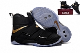Nike Zoom LeBron Soldier 10 Black Glod Mens Nike Lebron James Basketball Shoes SD3,baseball caps,new era cap wholesale,wholesale hats