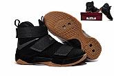 Nike Zoom LeBron Soldier 10 Black Gum Mens Nike Lebron James Basketball Shoes SD4,baseball caps,new era cap wholesale,wholesale hats