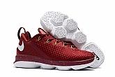 Nike Lebron 14 Low Shoes Red White Mens Nike Lebrons James 14s Basketball Shoes SD15,baseball caps,new era cap wholesale,wholesale hats