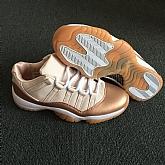 Air Jordans 11 Retro Rose Gold 2018 Girls Womens Air Jordans Retro 11s Basketball Shoes XY59,baseball caps,new era cap wholesale,wholesale hats