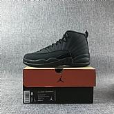 Air Jordan 12 Retro Winterized all black 2018 Mens Air Jordans Retro 12s Basketball Shoes XY196,baseball caps,new era cap wholesale,wholesale hats