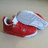 Air Jordans 4 Retro Red 2018 Girls Womens Air Jordans Retro 4s Basketball Shoes XY29,baseball caps,new era cap wholesale,wholesale hats