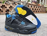 Air Jordan 4 Black Blue Yellow 2019 Mens Retro Jordans 4s Shoes SD13,baseball caps,new era cap wholesale,wholesale hats